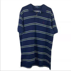 Polo Ralph Lauren Blue Striped XL Polo Golf Shirt